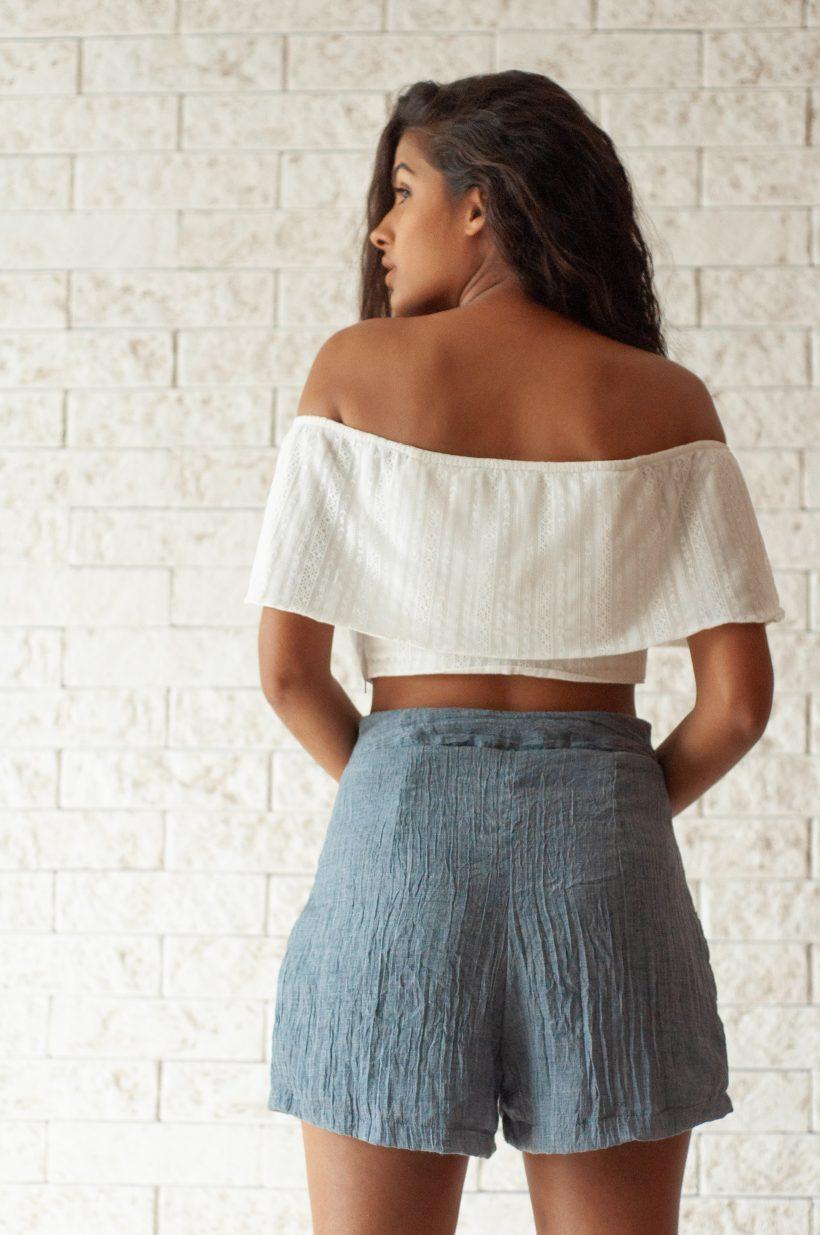 Short algodão