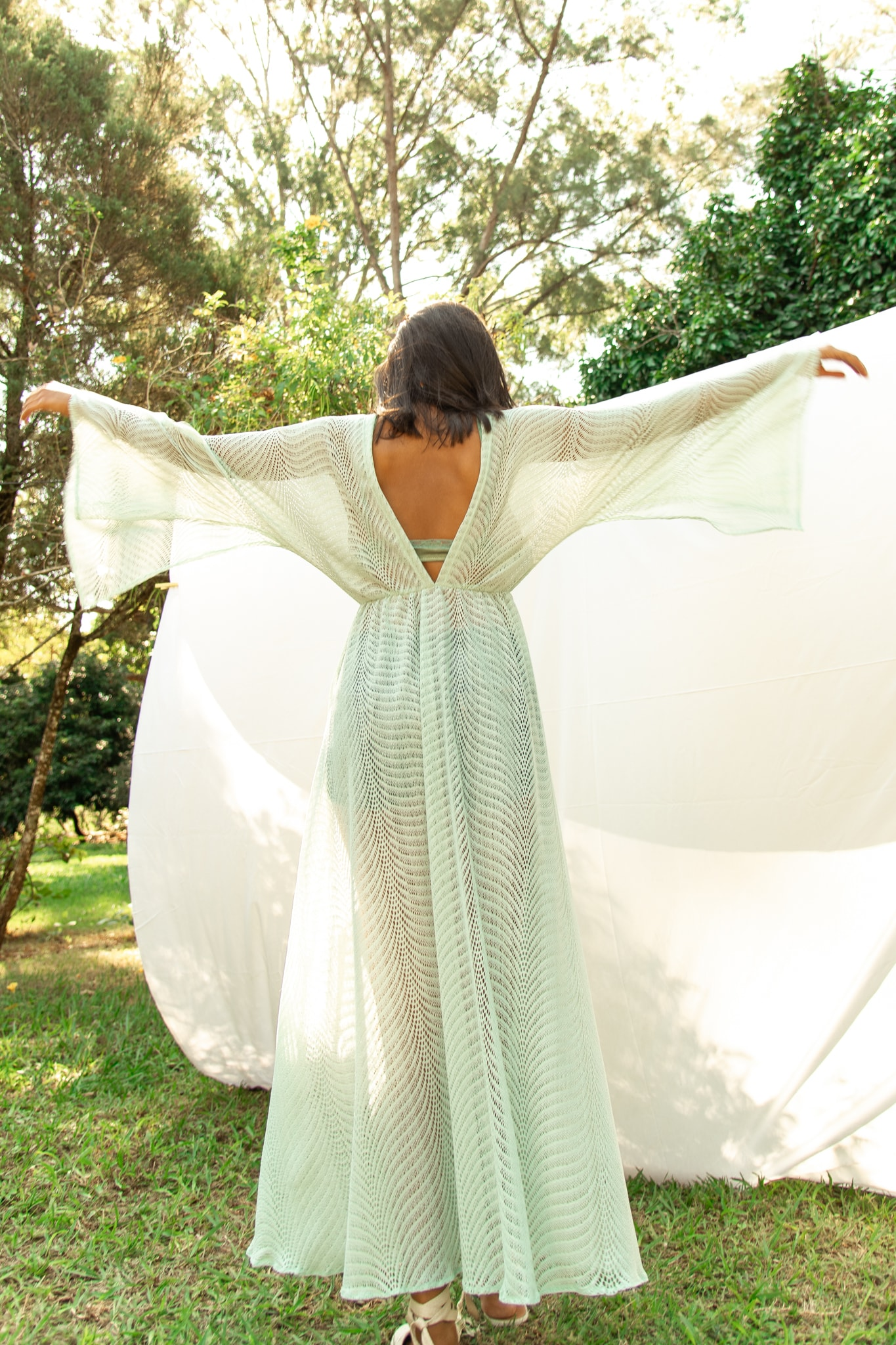 Vestido solto transparente