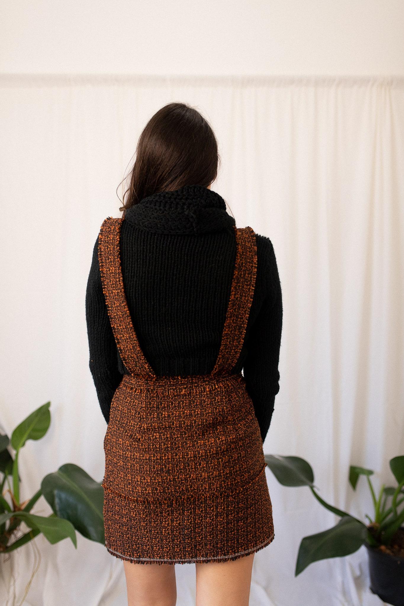 Jardineira tweed vintage