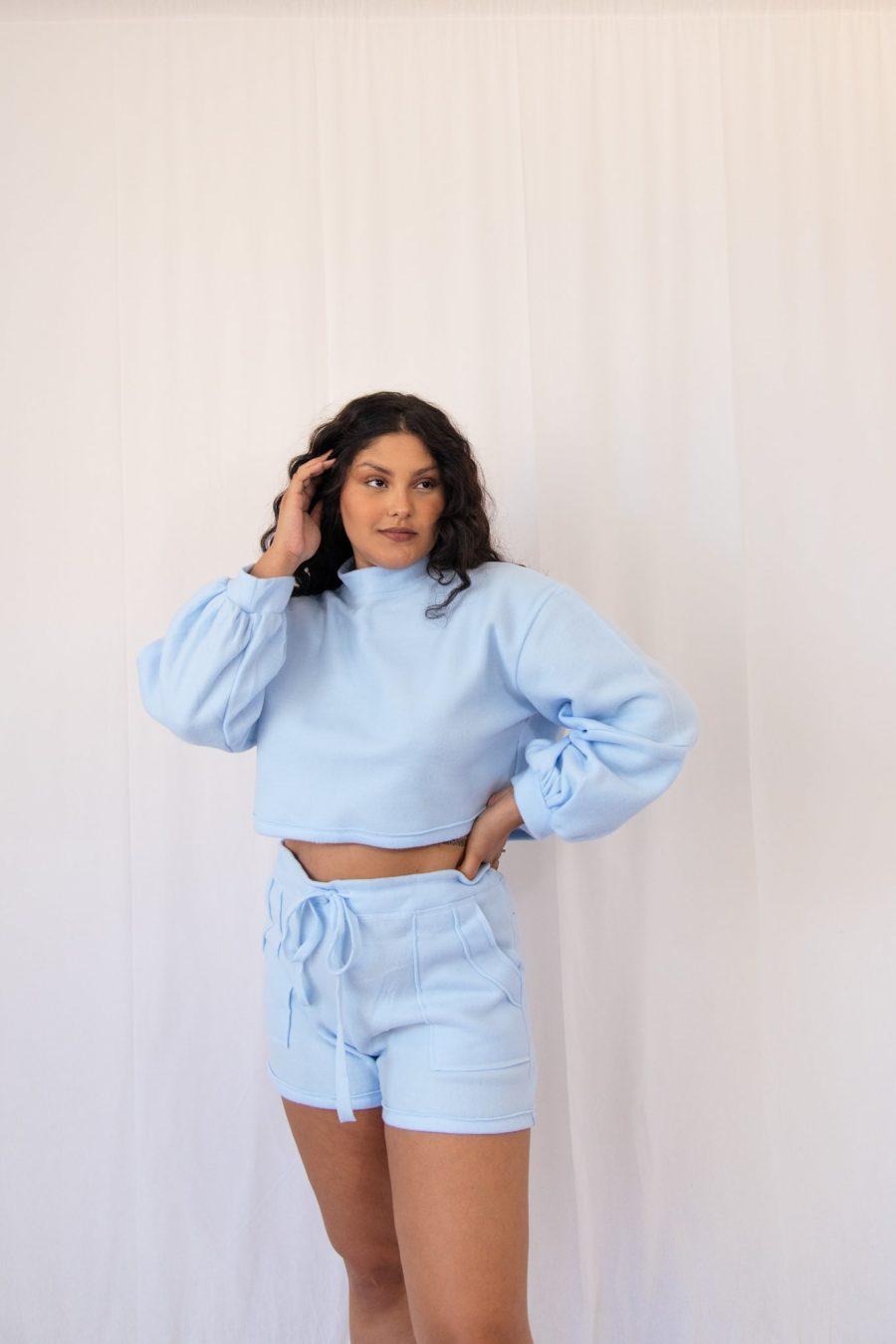 Blusa de frio cropped