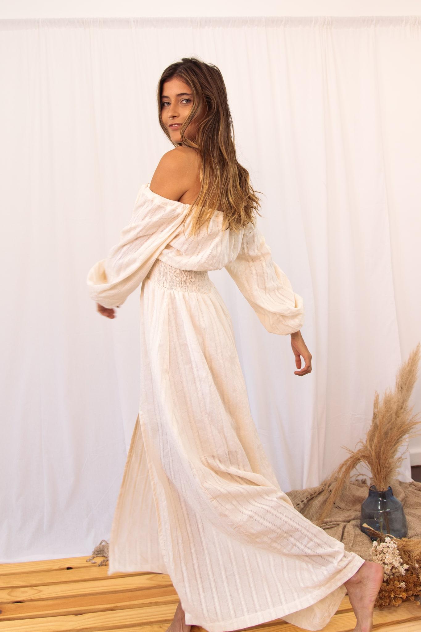 Vestido ciganinha com fenda