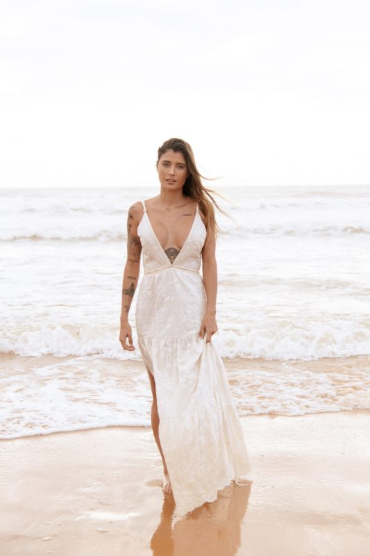 Vestido Laise bordado