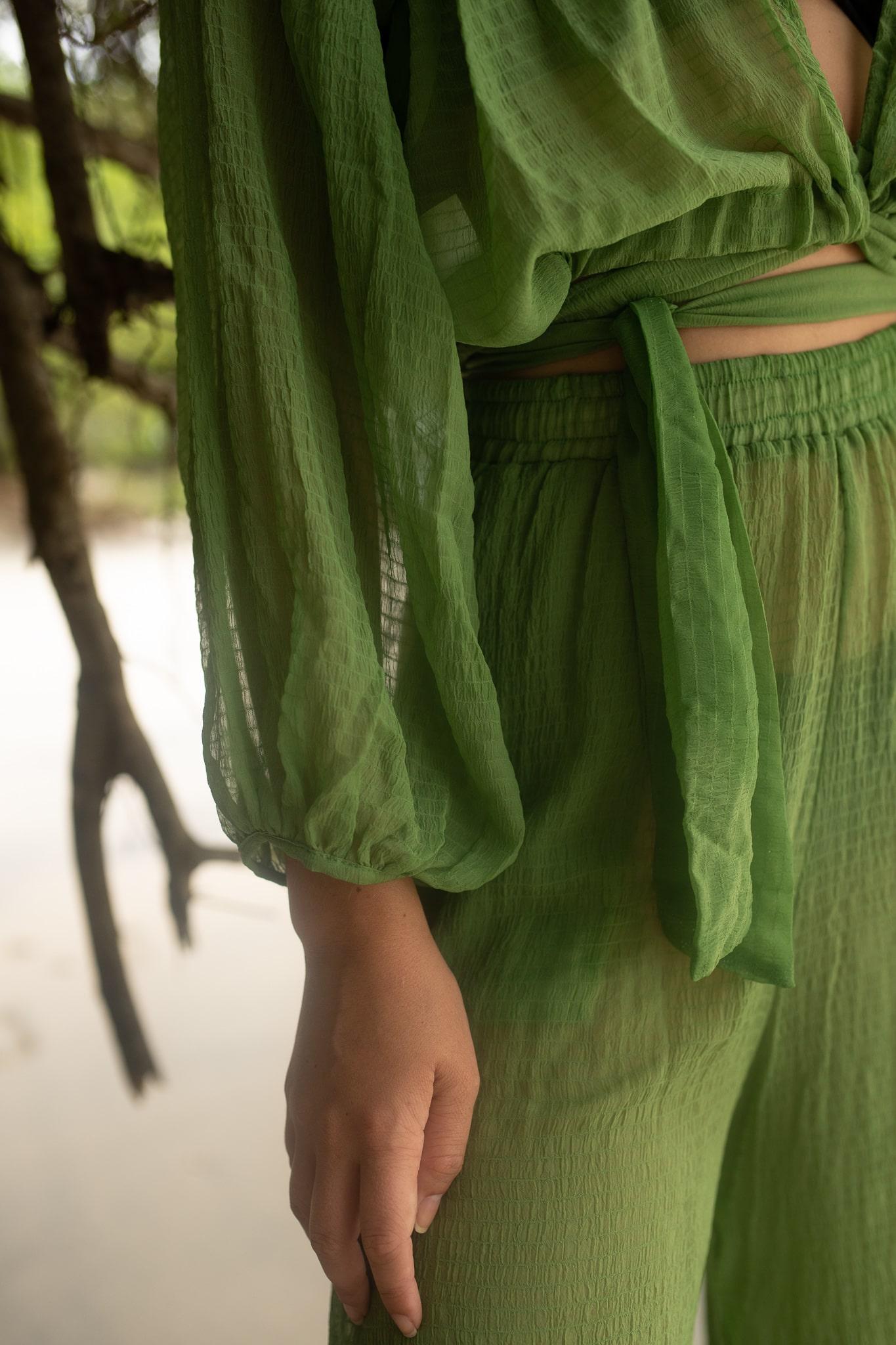 Cropped amarração transparente